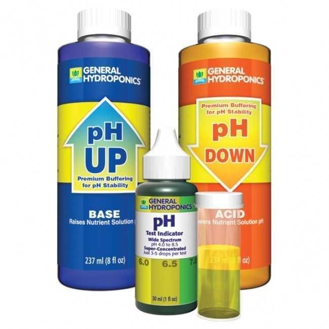 General Hydroponics ph adjustment kit