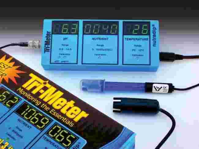 Nutradip tri meter hydroponic testing