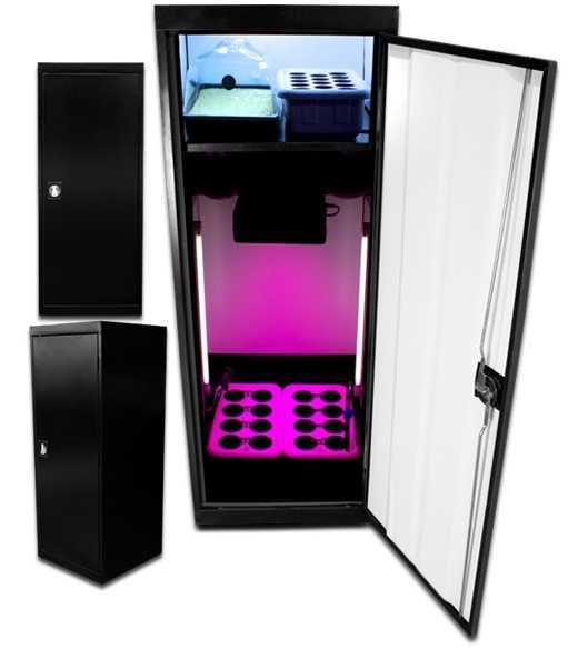 LED SuperStar Grow Box With Light On