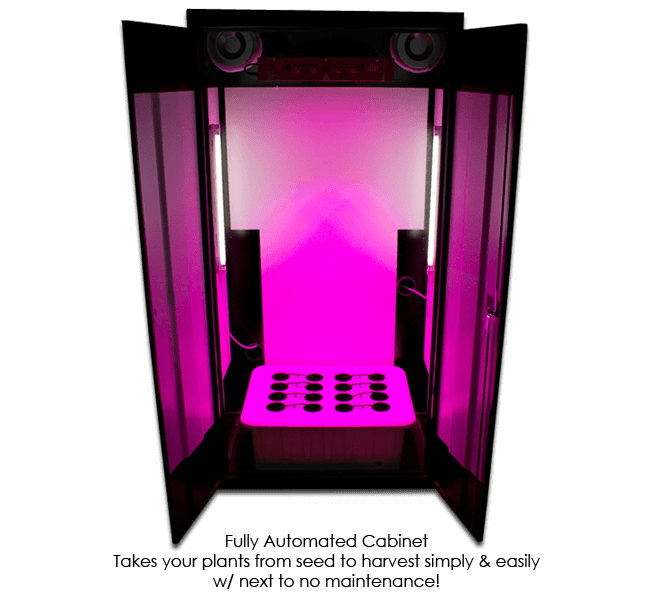 LED Superflower 3 Grow Box Front View