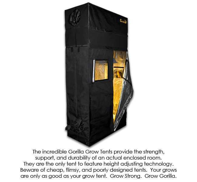 Gorilla grow tent height adjustable