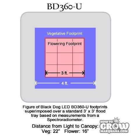 Black-Dog-LED Universal-Series-BD360-U-Footprint