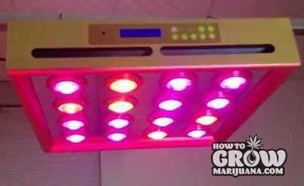 Grow-Sun-320P-LED-Grow-Light-On