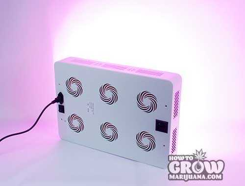 HydroGrowLED-SOL6-marijuana-LED-grow-light-top-view