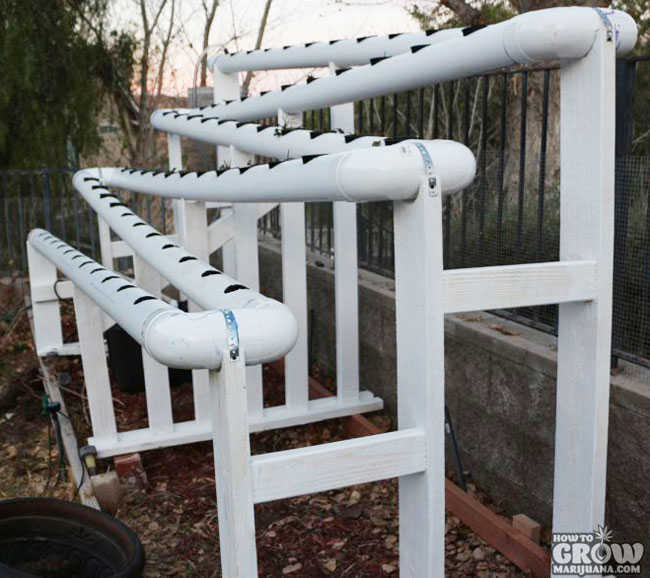 Outdoor Vertical NFT Hydroponics