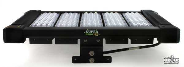 SuperGrowLED Spectrum King LED Grow Light - Side View