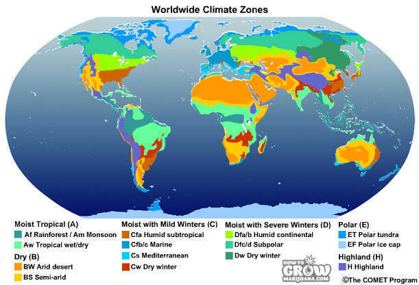 Basic Breakdown of Köppen Climate Zones