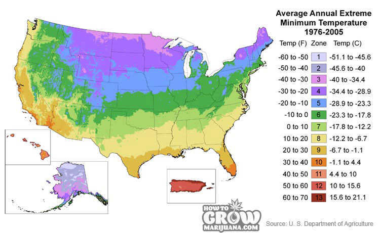 Which Outdoor Cannabis Seeds For My Climate Outdoor Growing Weed - Us koppen climate map