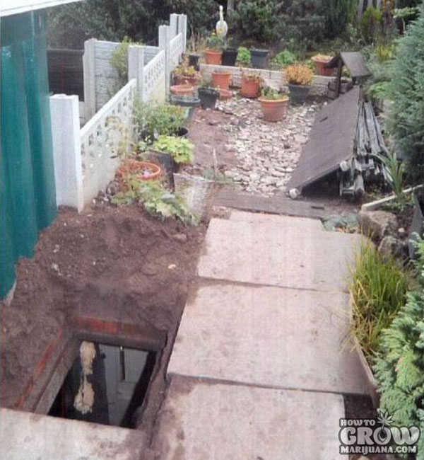Entrance to Secret Underground Cannabis Garden