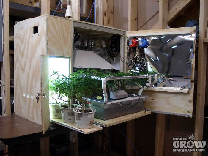Homemade Stealth Grow Cabinet