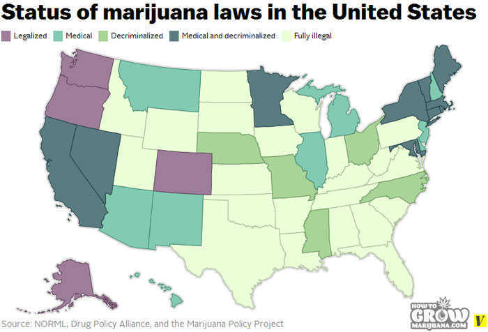 Legal Status of Marijuana in the U.S.