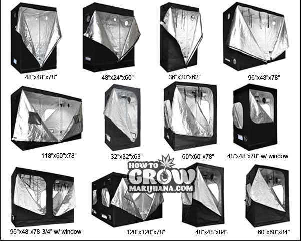 Grow tent sizes marijuana  sc 1 st  How to Grow Marijuana & Grow Tent u2013 Hydroponic Tents Reviewed