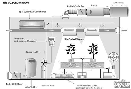 Grow room ventilation system