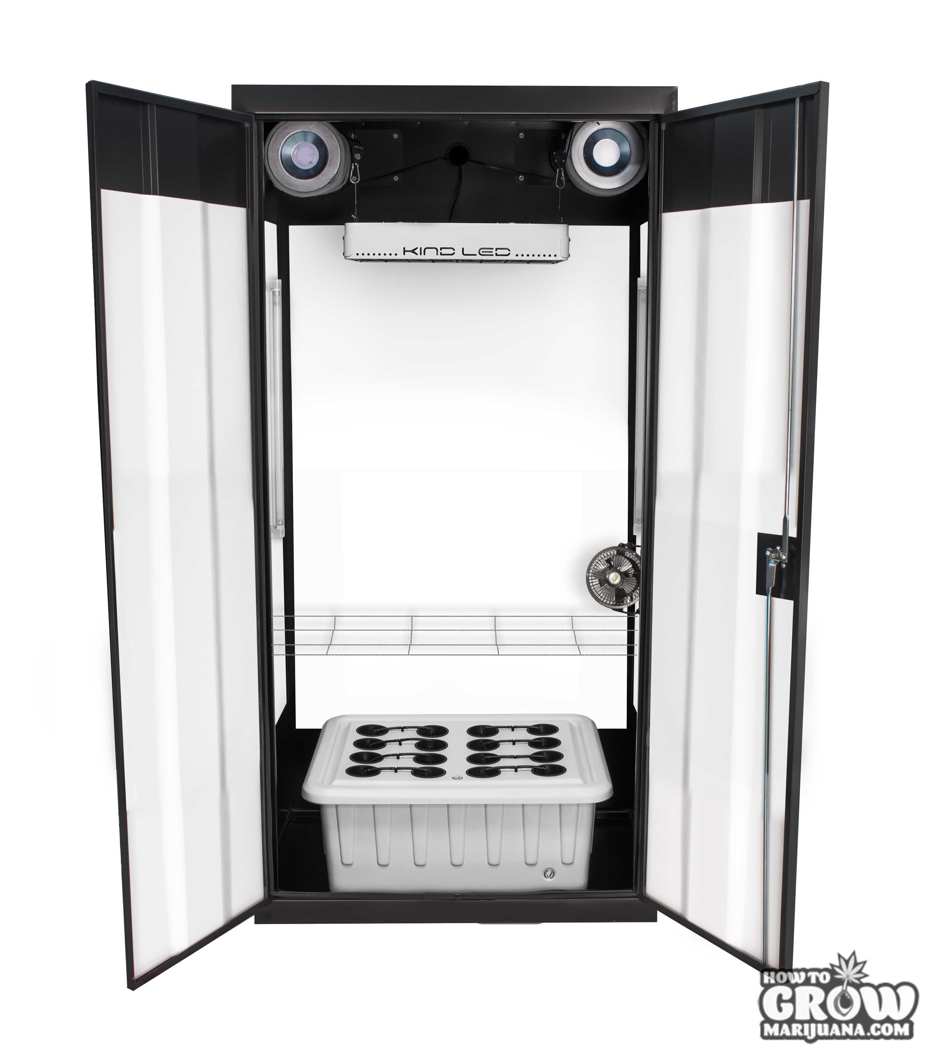 superflower-3-led-grow-cabinet-open